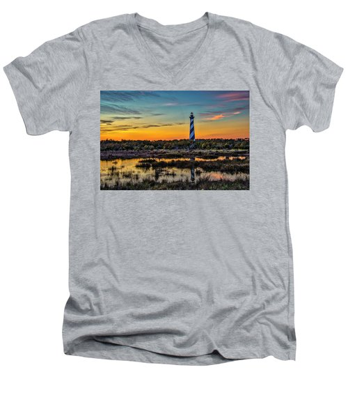 Cape Hatteras Lighthouse Men's V-Neck T-Shirt