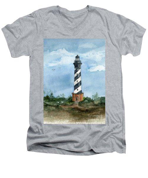 Cape Hatteras Lighthouse  Men's V-Neck T-Shirt