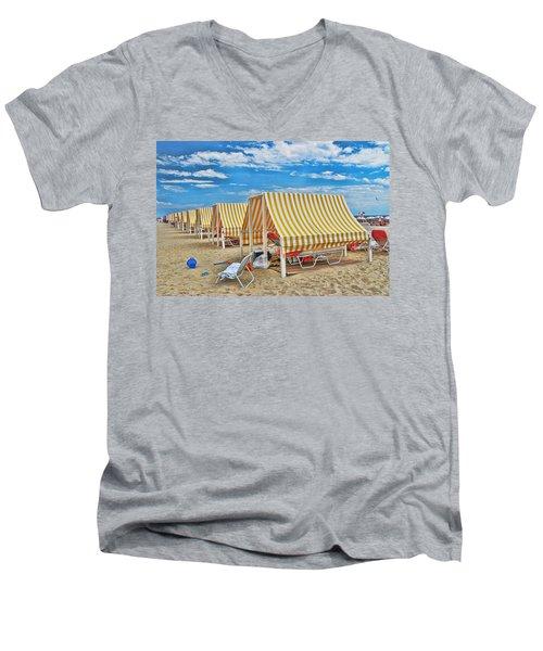 Cape May Cabanas 2 Men's V-Neck T-Shirt