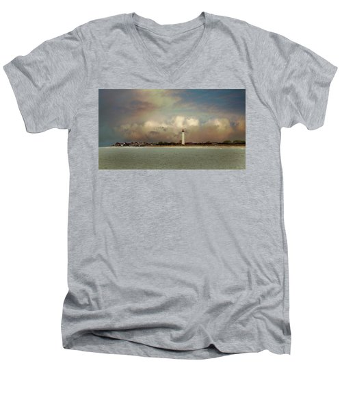 Cape May Lighthouse II Men's V-Neck T-Shirt