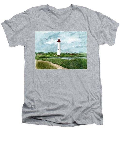 Cape May Lighthouse Men's V-Neck T-Shirt