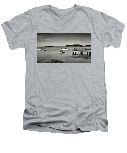 Cape Porpoise Harbor Men's V-Neck T-Shirt
