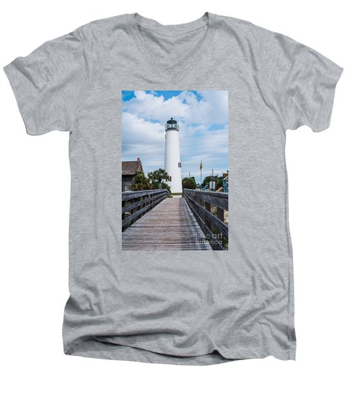 Cape St. George Lighthouse Men's V-Neck T-Shirt