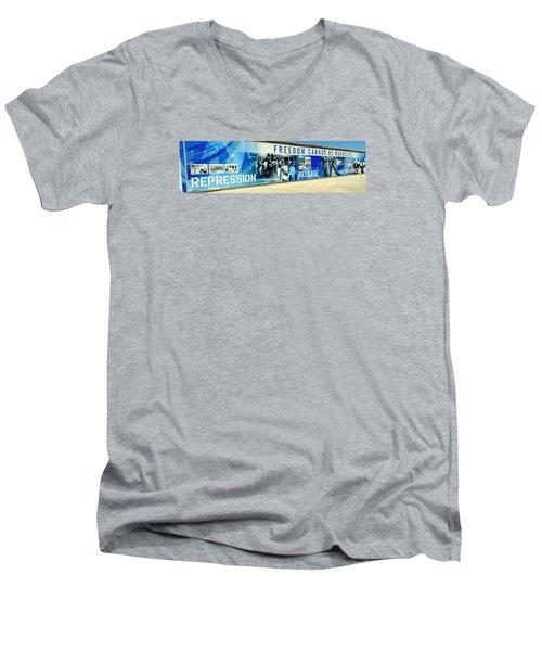 Cape Town Prison Sign Men's V-Neck T-Shirt by John Potts