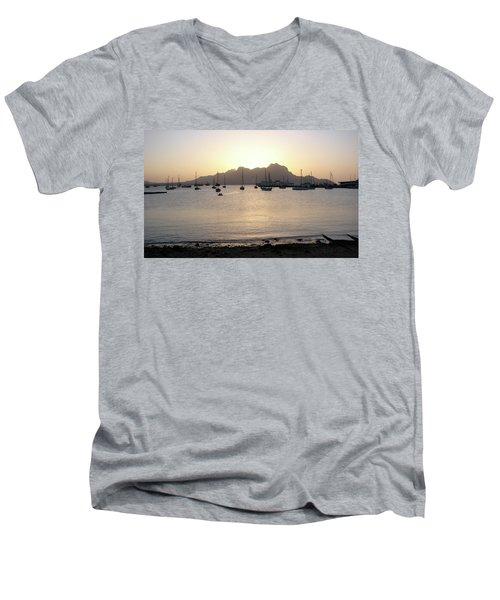 Cape Verde Sunset Men's V-Neck T-Shirt