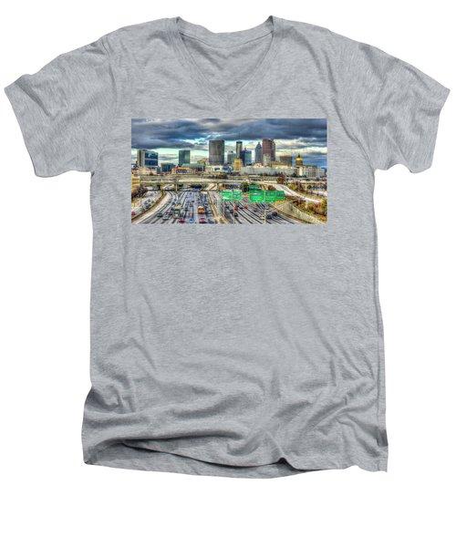 Capital Of The South Atlanta Skyline Cityscape Art Men's V-Neck T-Shirt