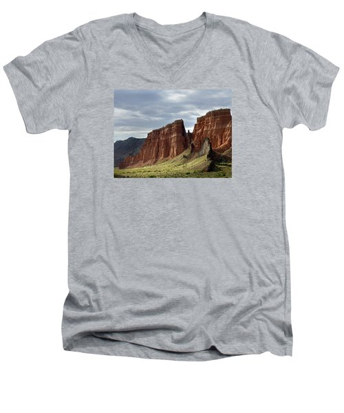 Capital Reef-cathedral Valley 9 Men's V-Neck T-Shirt by Jeff Brunton