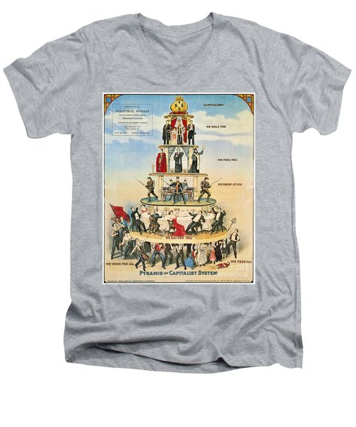 Capitalist Pyramid, 1911 - To License For Professional Use Visit Granger.com Men's V-Neck T-Shirt