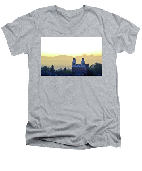 Capitol Hill Sun Up Men's V-Neck T-Shirt