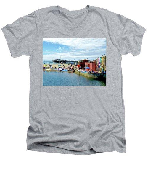 Capitola Begonia Festival Weekend Men's V-Neck T-Shirt