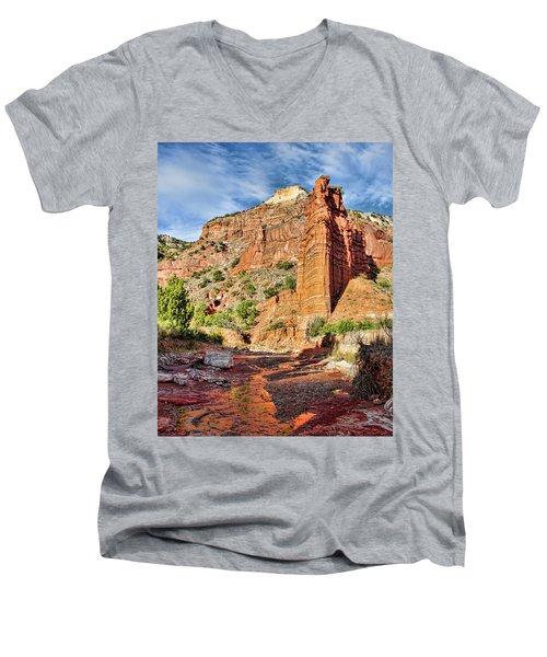 Caprock Canyon Cliff Men's V-Neck T-Shirt
