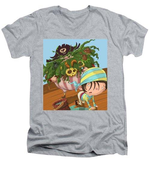 Captain Beard Men's V-Neck T-Shirt