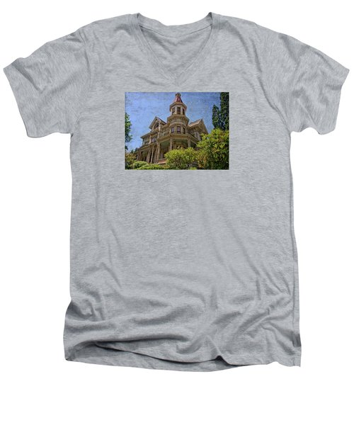 Men's V-Neck T-Shirt featuring the photograph Captain George Flavel House by Thom Zehrfeld
