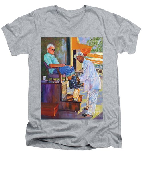 Captain Shoe Shine Men's V-Neck T-Shirt