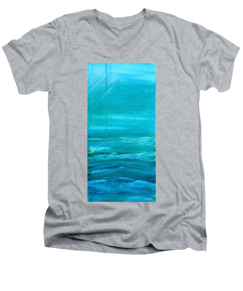 Captain's View Men's V-Neck T-Shirt by T Fry-Green
