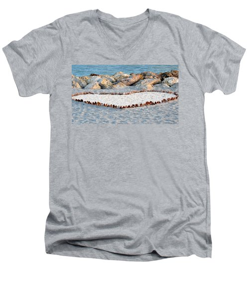 Captiva Love Men's V-Neck T-Shirt by Melanie Moraga