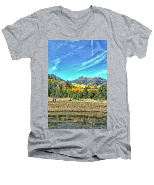 Captured Men's V-Neck T-Shirt by Tom Kelly