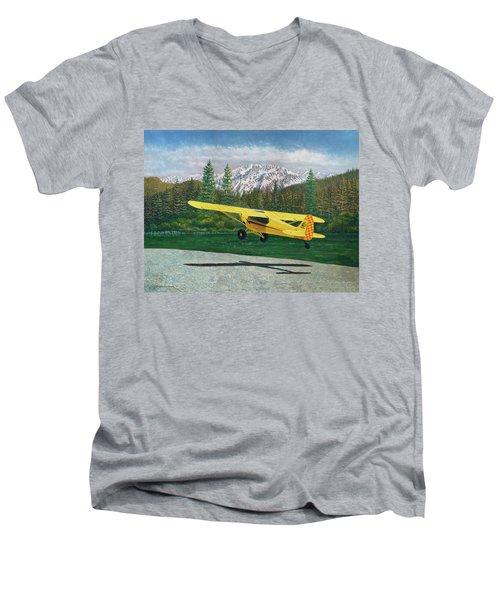 Carbon Cub Riverbank Takeoff Men's V-Neck T-Shirt