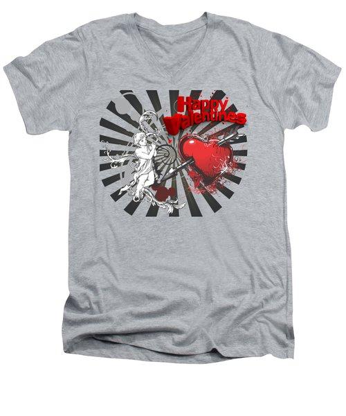Card Valentine Cherub Men's V-Neck T-Shirt