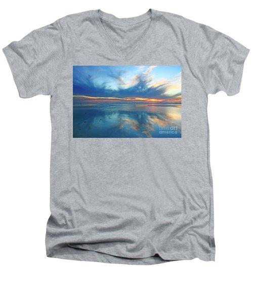San Elijo Sky Men's V-Neck T-Shirt