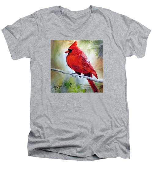 Cardinal 18 Men's V-Neck T-Shirt
