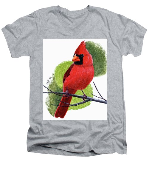 Cardinal1 Men's V-Neck T-Shirt