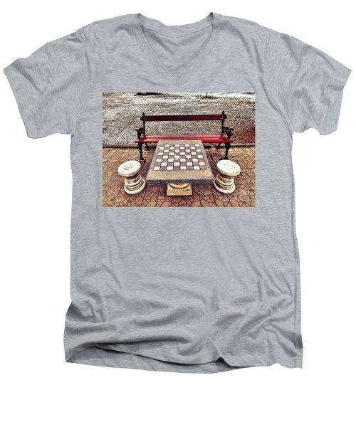 Care For A Game Of Chess? Men's V-Neck T-Shirt