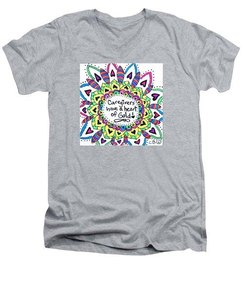 Caregiver Flower Men's V-Neck T-Shirt by Carole Brecht