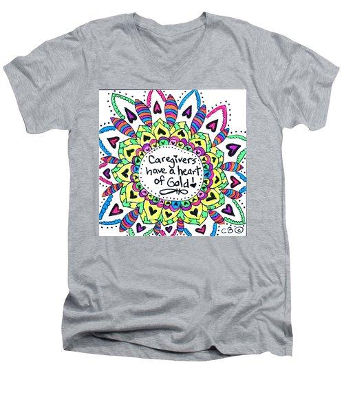 Caregiver Flower Men's V-Neck T-Shirt