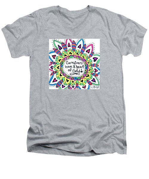 Caregiver Flower Men's V-Neck T-Shirt