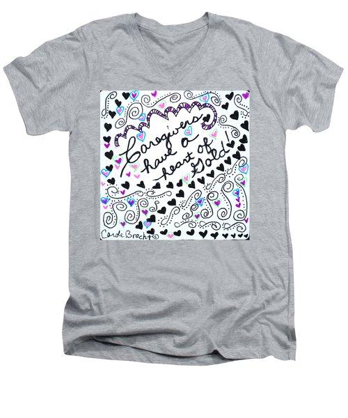 Caregiver Hearts Men's V-Neck T-Shirt