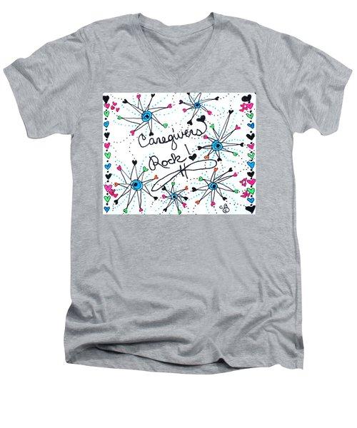 Caregivers Rock Men's V-Neck T-Shirt