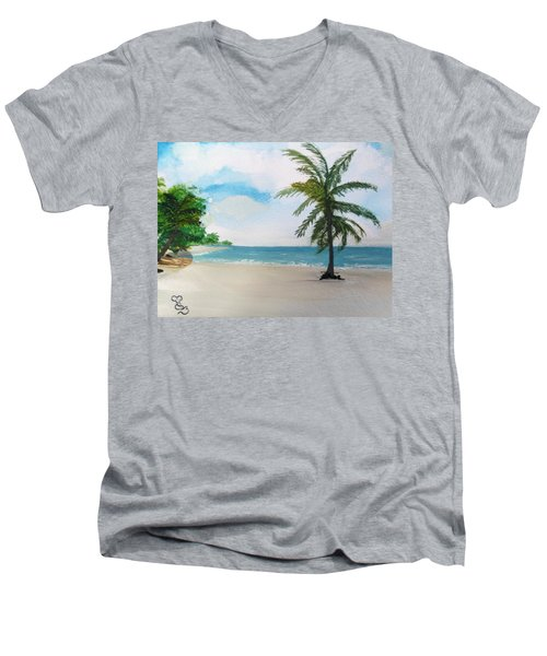 Caribbean Beach Men's V-Neck T-Shirt