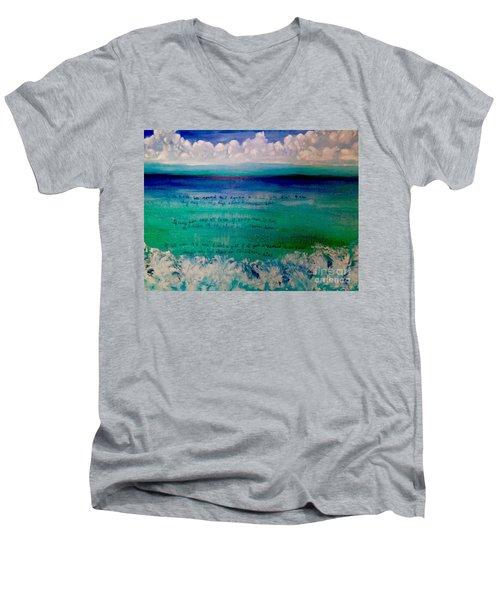 Caribbean Blue Words That Float On The Water  Men's V-Neck T-Shirt