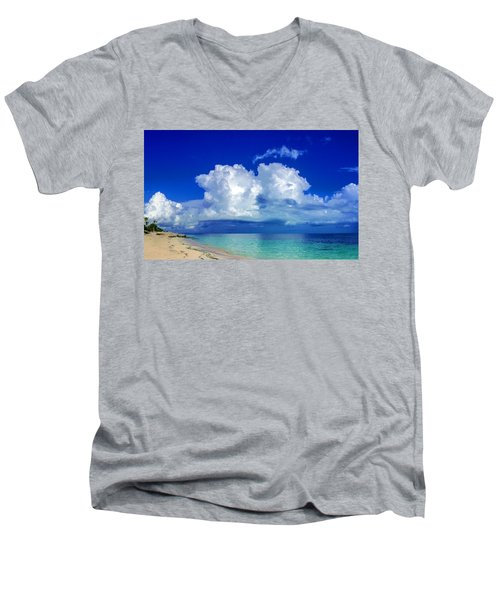 Caribbean Clouds Men's V-Neck T-Shirt
