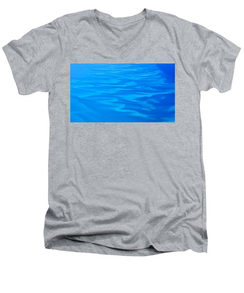 Caribbean Ocean Abstract Men's V-Neck T-Shirt by Jetson Nguyen