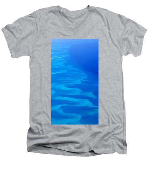 Caribbean Ocean Mosaic  Men's V-Neck T-Shirt