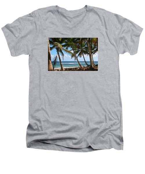 Caribbean Palms Men's V-Neck T-Shirt