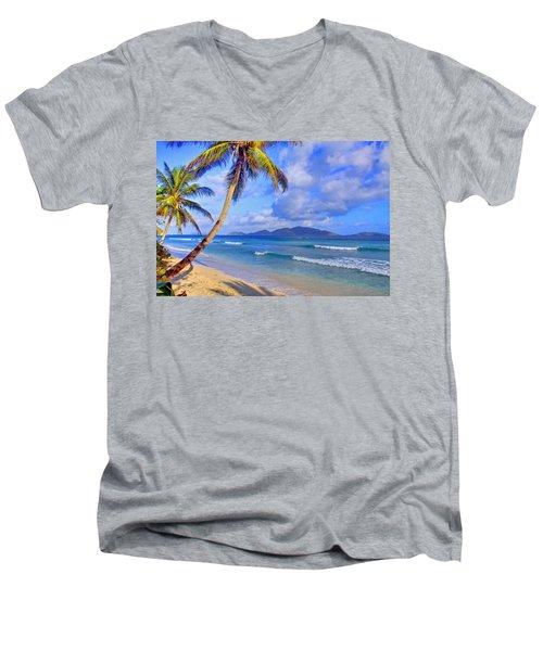 Caribbean Paradise Men's V-Neck T-Shirt by Scott Mahon