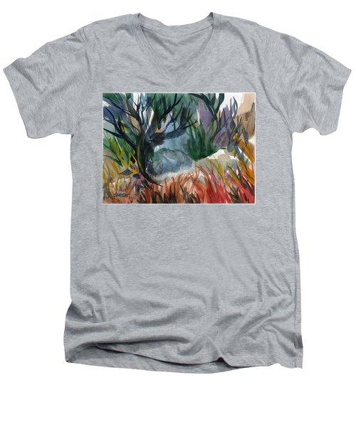 Caribbean Stroll Men's V-Neck T-Shirt