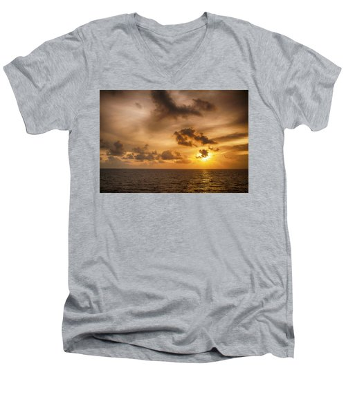 Caribbean Sunrise Men's V-Neck T-Shirt