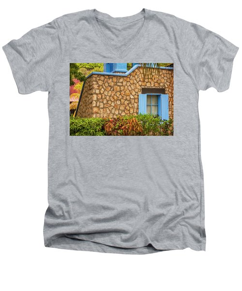 Caribbean Window Men's V-Neck T-Shirt