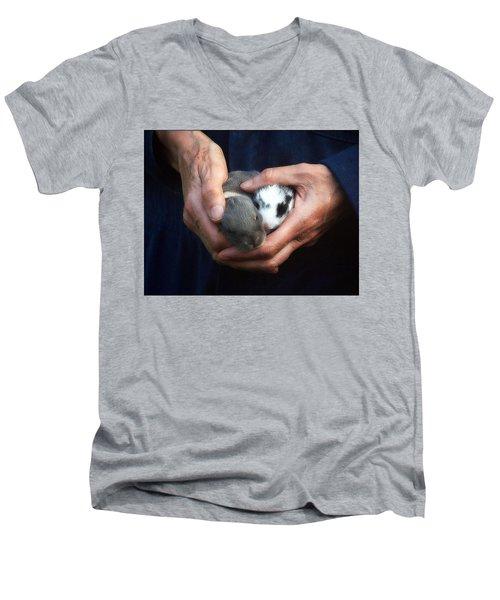 Caring Hands Men's V-Neck T-Shirt