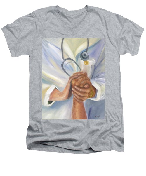Caring A Tradition Of Nursing Men's V-Neck T-Shirt by Marlyn Boyd