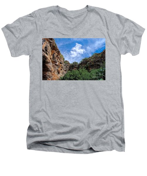 Men's V-Neck T-Shirt featuring the photograph Carlsbad Caverns by Gina Savage