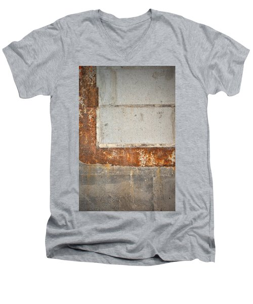 Carlton 14 - Abstract Concrete Wall Men's V-Neck T-Shirt