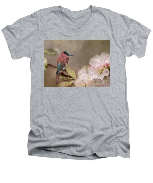Carmine Bee-eater Men's V-Neck T-Shirt