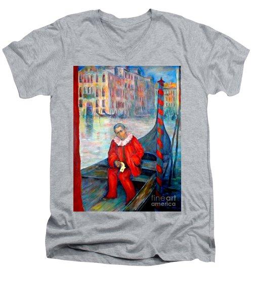 Carnaval In Venice Men's V-Neck T-Shirt