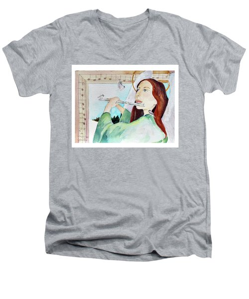Carol Of The Birds Men's V-Neck T-Shirt