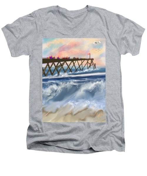Carolina Beach Men's V-Neck T-Shirt